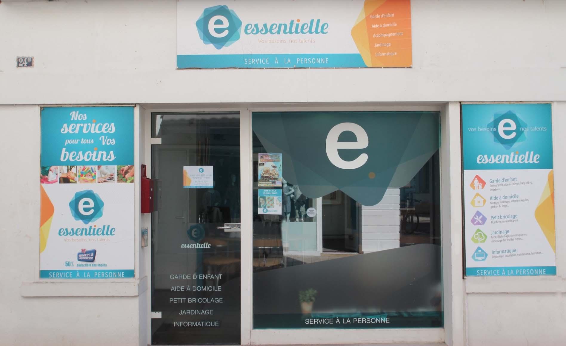 Devanture de l'agence Essentielle à La Rochelle